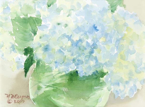 Bowl Of Hydrangeas Art | Nancy Reyna Fine Art