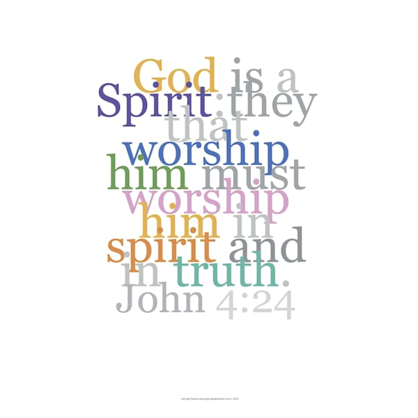 John 4:24 Inspirational Biblical Verse