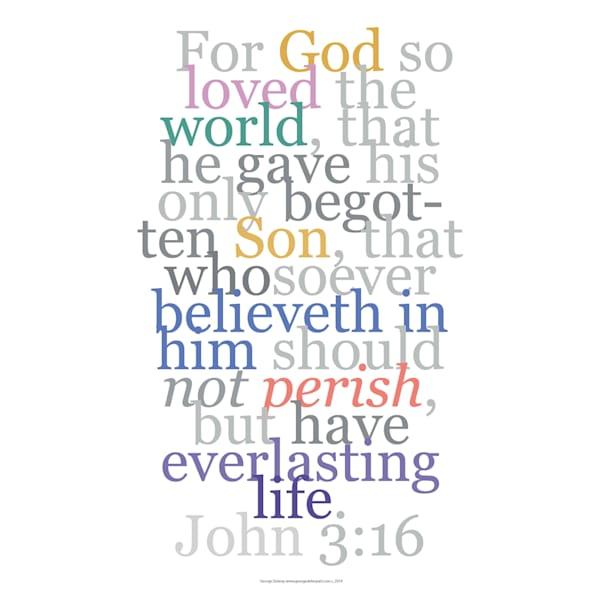 John 3:16 Faith  Verse