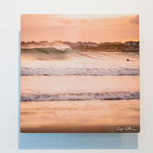 Surf At Second Beach 8x8 Metal   Cory Silken Photography