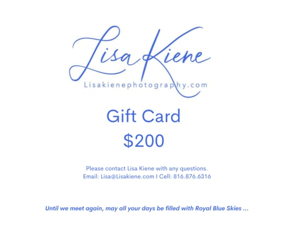 $200 Gift Card | Lisa Kiene Photography