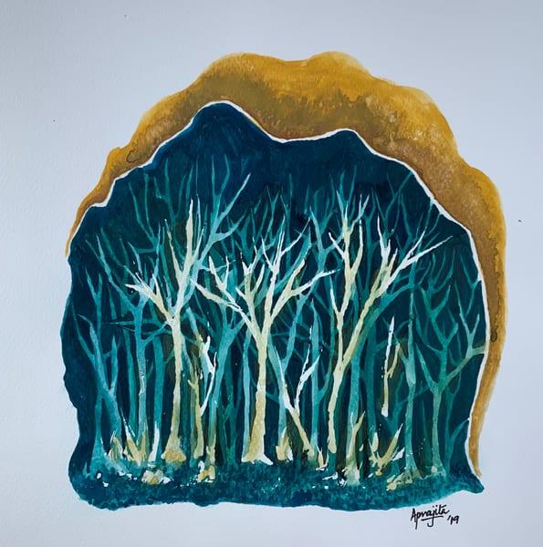 """""""Woods"""" in watercolor by Aprajita Lal"""