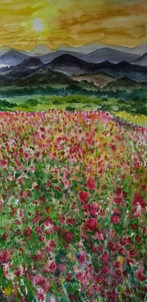 Valley Of Flowers Copy Art | Aprajita's Art
