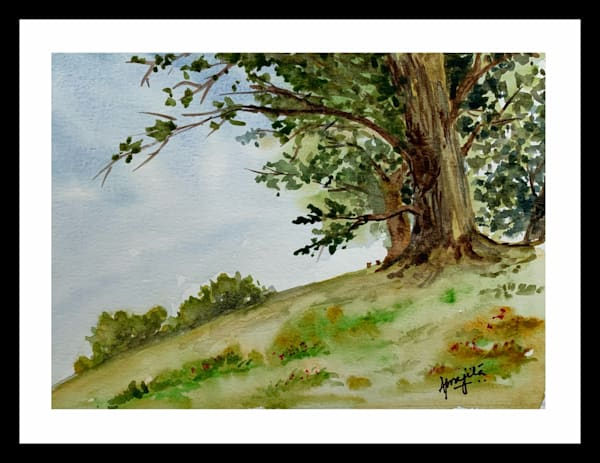 """Standing Strong"" in Watercolors by Aprajita Lal"