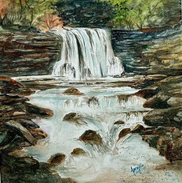 """""""Flowing Free"""" in watercolors by Aprajita Lal"""