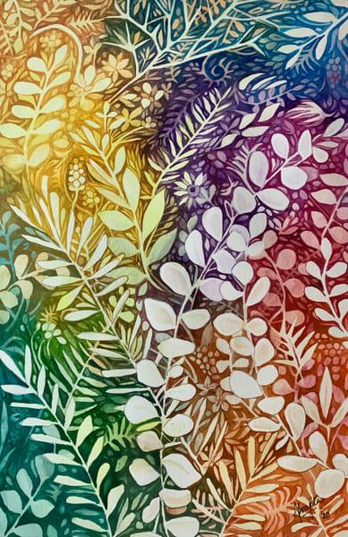 """""""Spring Splendor"""" in watercolors by Aprajita Lal"""