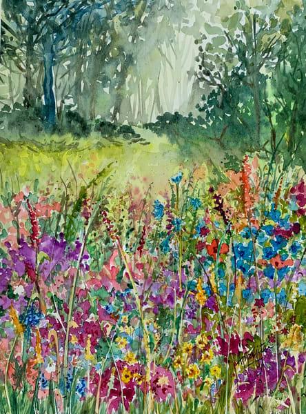 """""""Garden of Wildflowers"""" in Watercolors by Aprajita Lal"""