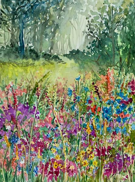 """Garden of Wildflowers"" in Watercolors by Aprajita Lal (Original 8x10.5)"