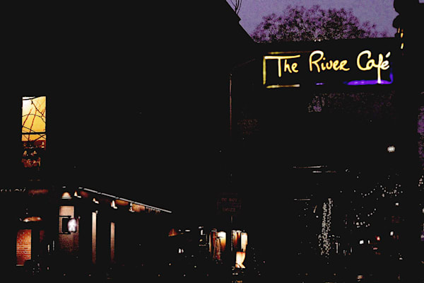 Dark Night At The River Cafe Photography Art | LenaDi Photography LLC