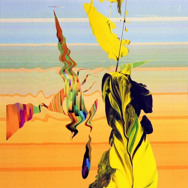 Aliens At The Beach Art | Maciek Peter Kozlowski Art