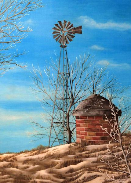 Winter Windmill Greeting Cards | Ashley Koebrick Schmidt