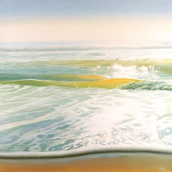 'Lightwave' seascape oil painting by Ed Little, Bridgewater, CT