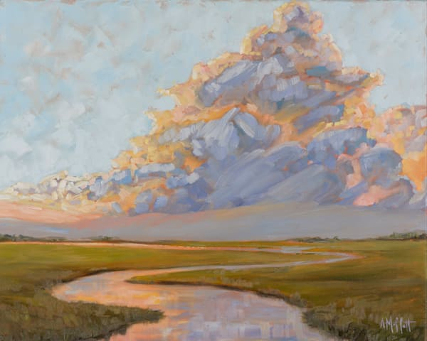 Giclee Print Thunderclouds on the Marsh