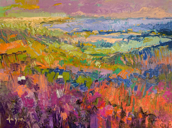 Large Abstract landscape Oil Painting by Dorothy Fagan