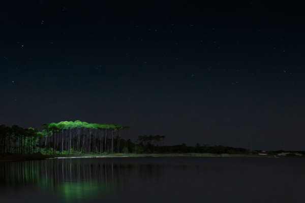 Western Lake Painted By Light Art   Modus Photography