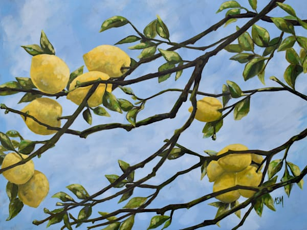 Giclee Print -  Italian Lemons - by April Moffatt