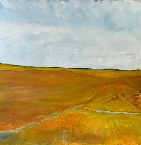 No Country For Old Men   Se New Mexico    Oil+Cold Wax On Canvas Art | Peter Anderson Studio
