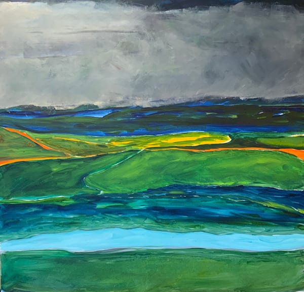 Ring Of Kerry   Ireland   Oil + Cold Wax On Canvas Art | Peter Anderson Studio