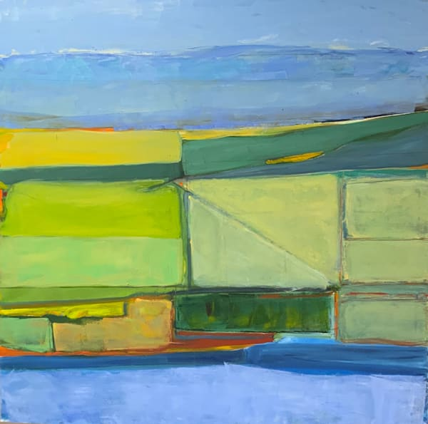Central Valley, California   Oil And Cold Wax On Canvas Art | Peter Anderson Studio