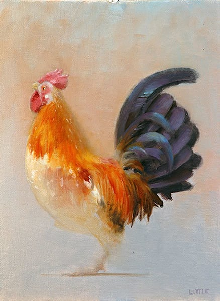 'Chicken1' print of original oil painting by Ed Little, Bridgewater, CT
