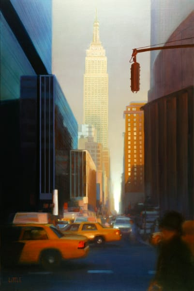 'Empire State' print of original oil painting by Ed Little, Bridgewater, CT