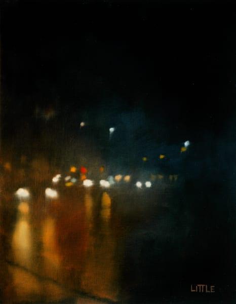 'Headlights' print of original oil painting by Ed Little, Bridgewater, CT