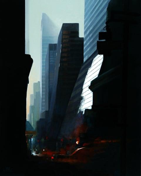'Manhattan Mix' Print of original oil painting by Ed Little, Bridgewater, CT