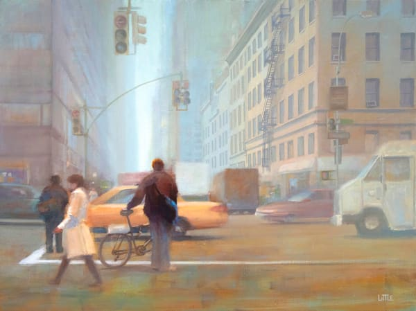 'The Delivery' print of original oil painting by Ed Little, Bridgewater, CT