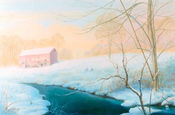 'January' print of original oil painting by Ed Little, Bridgewater, CT
