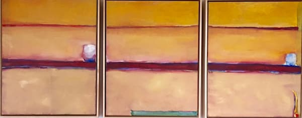 Sunset In Moriarty, Nm   2 Out Of 3 Ain't Bad   Oil On Canvas   Sold Art | Peter Anderson Studio
