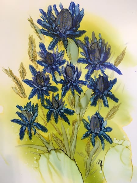Thistles In Ink Art   Art With Judy Ann