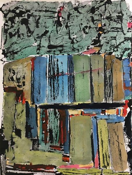 Quarry   Barre, Vt   Monoprint + Gouache   Sold Art | Peter Anderson Studio