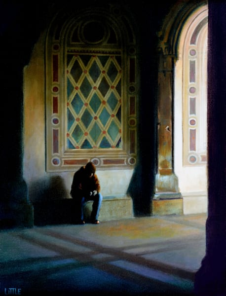 'Bethesda Terrace Blues' Print of oil painting by Ed Little, Bridgewater, CT