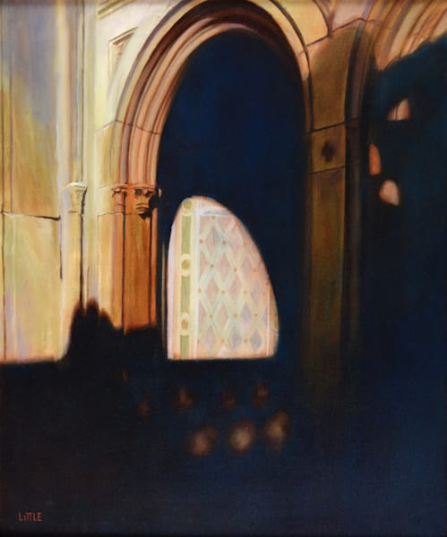 'Bethesda Terrace Sun and Shadow' oil painting by Ed Little, Bridgewater, CT