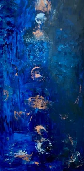 Abstract Blue mixed media