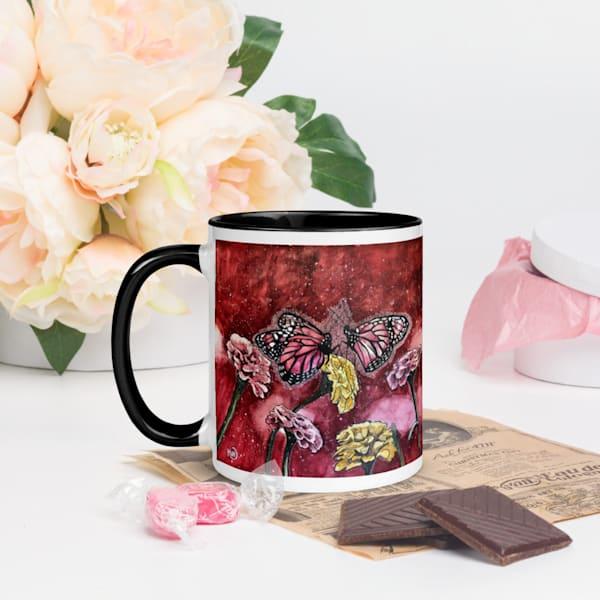 Pink Butterflies Coffee Mug | Water+Ink Studios