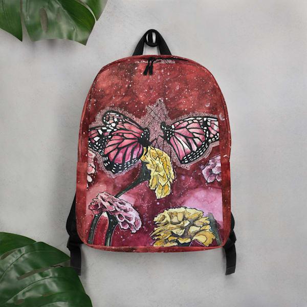 Pink Butterflies Backpack | Water+Ink Studios