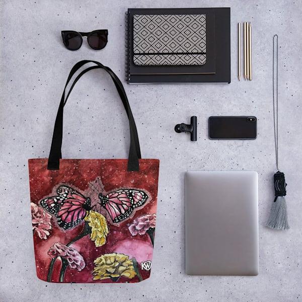 Pink Butterflies Tote Bag | Water+Ink Studios