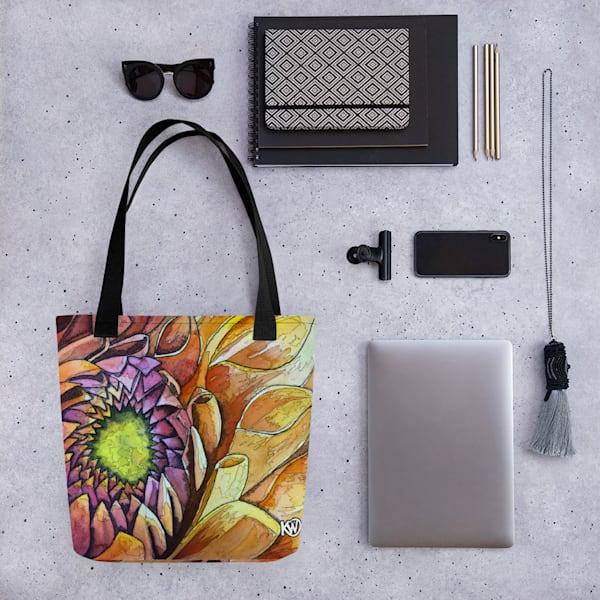 Golden Dahlia Tote Bag | Water+Ink Studios