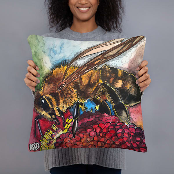 Pollen Feast Pillow | Water+Ink Studios