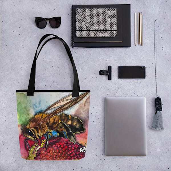 Pollen Feast Tote Bag | Water+Ink Studios