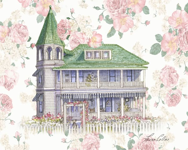 Victorian Rose Home Collage Art | Leisa Collins Art
