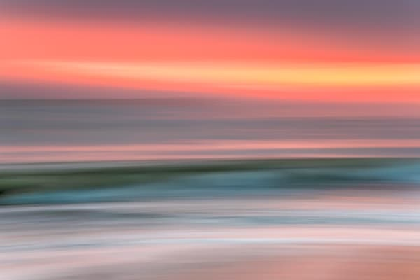 South Beach Sunset Pastel Wave Art | Michael Blanchard Inspirational Photography - Crossroads Gallery