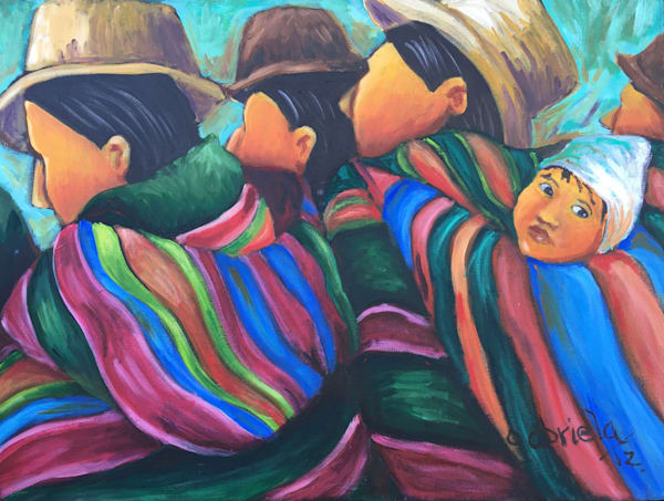 Women Walking Together Art | womanoftheandes