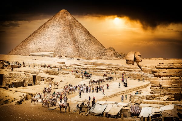 Mysteries of Giza Art Print