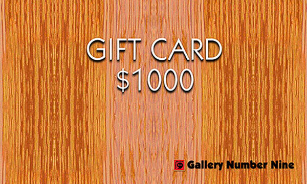 G9 Gift Card $1000 | Gallery Number Nine