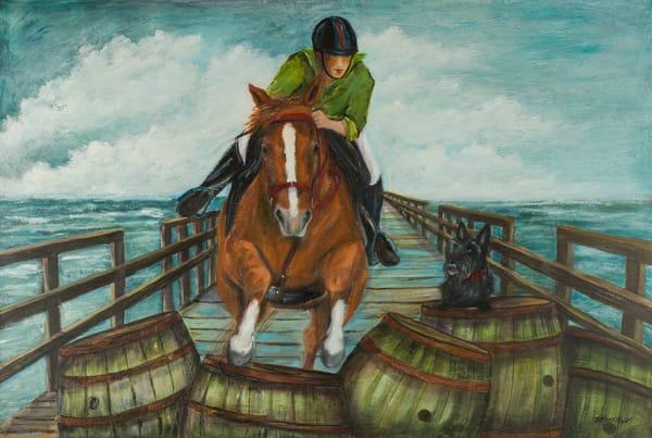 Pier Girl Art | B Mann Myers Art