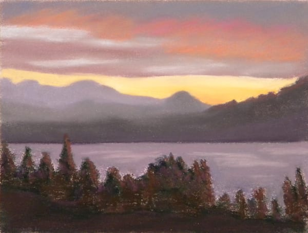 Loon Lake Nocturne | Original Pastel