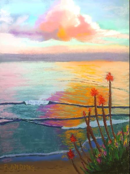 Clouds Over Monterey | Original Pastel