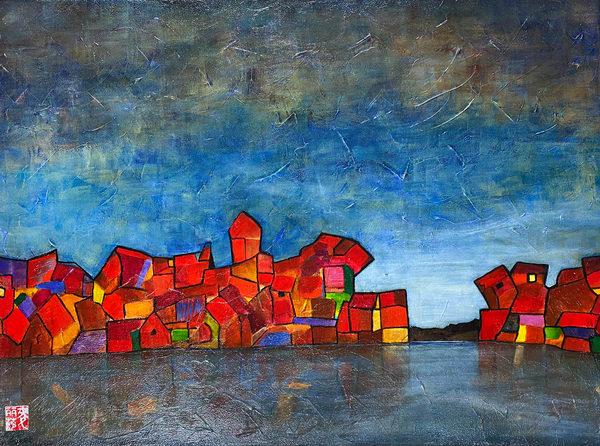 Fishing Village (Print) Art | Marissa Sweet